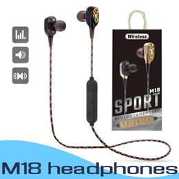 M18 Wireless Bluetooth 4.2 Kopfhörer Stereo Headset Sport In Ear Kopfhörer Mit Mikrofon Sprachsteuerung Für iPhone Samsung Mit Kleinpaket von Fabrikanten
