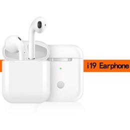 Version de mise à niveau tactile sans fil i19 Écouteurs 5.0 Microphone Bluetooth Le casque TWS prend en charge le chargement sans fil pour iPhone / Android / Windows ? partir de fabricateur