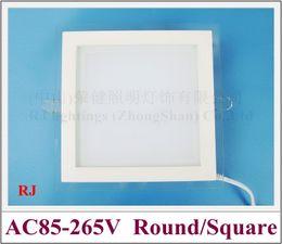 kreis blei Rabatt LED-Deckeneinbauleuchte mit Glas 18W / 12W / 6W SMD 5730 CE ROHS LED-Einbauleuchte Einbauleuchte quadratisches und rundes Aluminiumglas