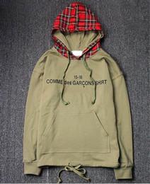Xadrez hoodie on-line-Marca de luxo mens hoodie do desenhador da manta caixa de camisola com capuz logotipo tendência hoodies skate top qualidade casal homens encapuzados mulheres pullove ocasional