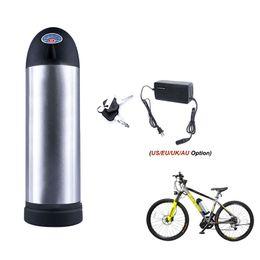 Ebike 36v bateria li ion on-line-Eléctrico 36V bicicleta 48V 10Ah 14Ah garrafa de água Chaleira recarregável Li-ion para Ebike Motor 250W 350W 500W 1000W com carregador