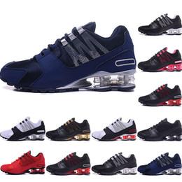 promo code 27f70 dfedd chaussures r4 Promotion shox shoes Bon marché Hommes chaussures NZ bule  rouge blanc noir rose or