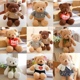 2019 baby boy llaveros Alta calidad 30 CM oso de peluche con bufanda animales de peluche oso juguetes de peluche oso de peluche muñeca amantes bebé regalo de cumpleaños