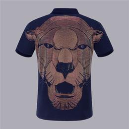 Плюс размер рубашки поло женщин онлайн-Печатный Большой Лев Пользовательские Футболка для мужчин и женщин Плюс Размер Футболка Мужчины Поло PP Высококачественная Одежда