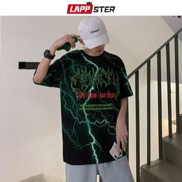 2019 mens t-shirt oversize noir LAPPSTER été hommes drôles Streetwear T-shirts 2019 Hommes Hip Hop Noir Harajuku T-shirt surdimensionné T-shirts Fashons mens t-shirt oversize noir pas cher
