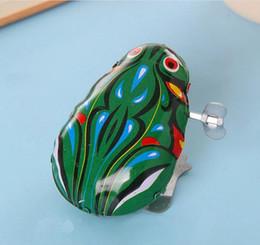 Salti di rana online-Clockwork Tin Frog Jumping Frog Toy Classic Kids Toy Baby Child Toy Novità Gag Toys Wind-up Toys