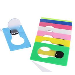 Luce per borsa online-Carta del LED tasca della carta di credito luce luci Wallet lampadina messo in borsa mini portatile LED Night Light Portable dispositivo di divertimento