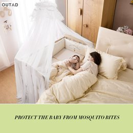 2019 ropa de cama princesa moderna Ropa de cama para bebé Cuna Mosquito Net Tamaño Portátil Redondo Toddler Cama de Bebé Mosquito Malla Hung Dome Cortina Neta Verano NUEVA VENTA