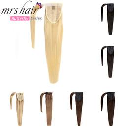 Clip de cabello humano 2019 en negro / rubio hecho a máquina Tijeras remy Clip recto en extensiones de cabello 14
