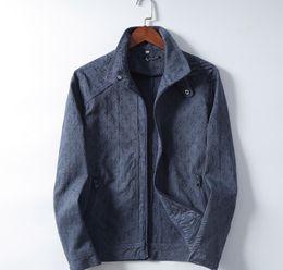 Herren rosa jacke online-2020 ABDLouis Vuitton-Denim Jacket Men Ripped Holes Supre Herren Rosa Jean Kanye West Jacken New Washed Denim Herren Mantel-Kleidung