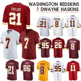 Washington nueva jersey online-7 Dwayne Haskins Washington Jersey Redskins 21 Sean Taylor 72 Eric Fisher 8 Kirk Primos 8 Primos 11Smith 26 Peterson 2019 nuevo