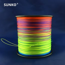 fishing floats materials Promo Codes - 8strands 300M SUNKO Brand Japanese Multifilament PE Material colorful Braided Fishing Line18 30 40 50 60 70 80 100 120 140 160LB