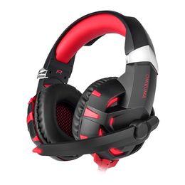 Canada ONIKUMA K2 Stéréo Gaming Headset 2.2m Câble LED Lumière 7.1 Effet sonore Over-ear Casque avec Micro pour Jeu D'ordinateur supplier ear cable Offre