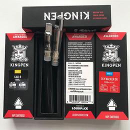 Kingpen vider la cartouche de stylo de vape empaquetant le stylo de vaporisateur en céramique d'huile de Dab du réservoir 1ml avec des autocollants de logo de KP pour des cigarettes de la batterie E de fil 510 ? partir de fabricateur