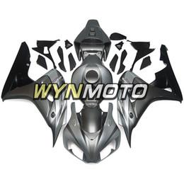 Kit di abbassamento di honda online-Kit carenatura moto inferiore e argento nero opaco Custodia completa adatta per Honda CBR1000RR 2006 2007 06 07 Coprimoto Nuovi cofani