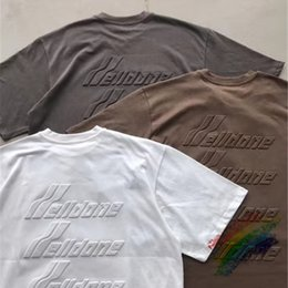 Camisetas marrons on-line-New T-shirt camisa das mulheres dos homens T T-shirt Brown Branco Cinza Escuro