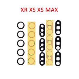 Autocollant en verre iphone 3m en Ligne-Caméra arrière lentille en verre pour iPhone X XR XS XS MAX couvercle de la came arrière avec 3M autocollant adhésif pièces de rechange