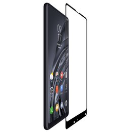 Argentina Templado Nillkin Cp + Protector de pantalla de la cubierta completa para Xiaomi Mi Mix 2 S 2s vidrio protector 5.99 pulgadas J190507 cheap mixed screen protectors Suministro
