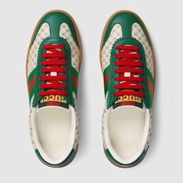 Botas de corrida 46 on-line-2019 Nova marca sapatos verde e vermelho cores verdes Trainer Sapato Casual homem e mulher sapatos Com Box lace-up Botas Casuais Corrida Corredor 36-46