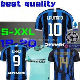 alexis jersey Coupons - LUKAKU LAUTARO SKRINIAR Inter 2019 2020 Milan soccer jerseys ALEXIS GODIN BARELLA jersey 19 20 football top kit shirts Men Kids sets uniform