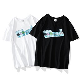 Katze stil hemd männer online-19SS Männer Frauen Designer Cartoon Katze Druck T-shirt Sommer Street Style Lose Kurzarm Mode Herren T-shirt