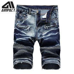 2020 мужские шорты slim board  2019 Fashion Denim Shorts for Men Slim Fitted Cowboy Jean Trunks Male Summer Skinny Skate Board Jean Shorts By Aimpact AM2310 дешево мужские шорты slim board