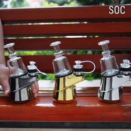 Portátil SOC kit de pico bobina de cerâmica 2800mAh concentrado cera caixa presente estilhaçamento puffco com aquecimento do sistema de controlo de inserção de cerâmica tigelas de Fornecedores de bateria de coroa
