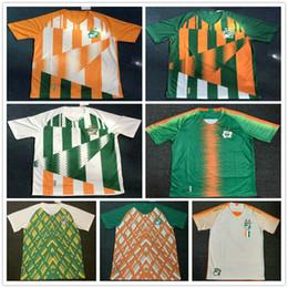 Yaya toure en Ligne-2019 2020 Maillots de Football Coate d'Ivoire 11 DROGBA 8 KALOU GERVINHO TIOTE TOURE YAYA Accueil personnalisé Extérieur Jaune Vert Côte d'Ivoire Football Maillot