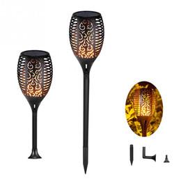Decoraciones de la antorcha online-Antorcha solar Iluminación exterior Iluminación impermeable Paisaje Decoración Antorchas LED solares Luces de jardín con efecto de llama