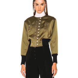 Frauen trendy kurze mäntel online-DEAT 2019 Mode Neue Feste Perle Schnalle frauen Jacke Lässig Kurzen Absatz Trendy Frühling Kleidung Mantel BF245