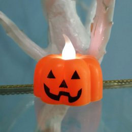 ламповая сеть Скидка Хэллоуин украшения LED ночник на батарейках тыква / паутина / фонарь черепа держатель J99Store