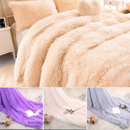 2019 lanças de pele Macio Lance Cobertor Desgrenhado Difusa Peles De Pele Do Falso Sofá Cobertores Quente Elegante Aconchegante Com Fofo Sherpa lanças de pele barato