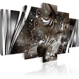 2020 conjuntos de colares modernos (Sem Moldura) 5 Pçs / set Abstrata Moderna Colar de Cordas Cópia Da Arte Da Lona Sem Moldura Pintura Retrato Da Parede de Decoração Para Casa desconto conjuntos de colares modernos