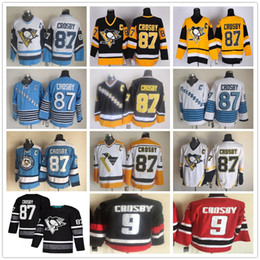 388de03c7 2019 All Star  87 Sidney Crosby Vintage CCM Gold Yellow Black White  Pittsburgh Penguins Ice Hockey Jerseys 100% Stitched Free Shipping
