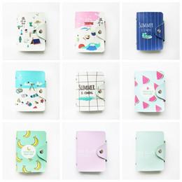 Tarjetas de estudiante online-Bolsas para tarjetas de crédito de moda PU cuero fruta verano Identificación comercial Monedero Titular de la tarjeta Bolso Funda