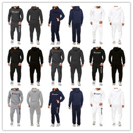 Ensemble pull homme en Ligne-Chandail à capuchon en molleton à capuchon Sportswear S-3XL B82303 de la marque Champion à capuchon et pantalon pour hommes