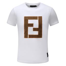 2019 The Newest Summer Designer Magliette per uomo Top FF Lettera Ricamo T Shirt Mens Abbigliamento Marca manica corta Tshirt Donna Top M-3XL da