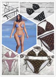 Roupa de banho de biquínis de corda feminina on-line-Swimwear para mulheres swimsuit maiôs Sexy biquini para mulheres Beach clothing Hotsale sólido biquíni duas peças 2019 qualidade Europeia EUA