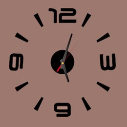 números de adesivo de parede Desconto Atacado-Free transporte pequeno número 3D Melhor Decoração Início DIY relógio de parede única auto adesivos autocolantes casa Decor Modern Wall Clocks P1
