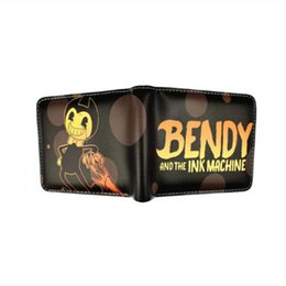 Münzen maschine online-Designer Brieftasche Geldbörse Madonno Spiel Bendy und die Ink Machine Short Wallet Anime Cartoon Geldbörsen Geldbörse