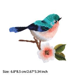 1 Pc Mignon Oiseau Fleur Motif Broderie Coudre / Fer Sur Patch Badge Applique Patch Avec Colle Beaux Vêtements Décor Accessoires ? partir de fabricateur