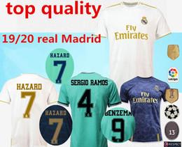 Uniformes de futbol de madrid real online-Camiseta equipación Real Madrid 2019 2020 primera segunda equipación NUEVA PELIGRO ASENSIO ISCO MARCELO uniformes de fútbol tall S-2XL