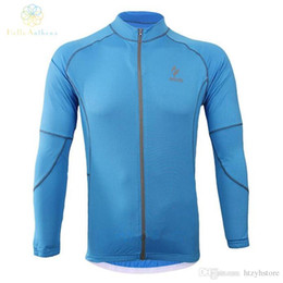 el bikes Coupons - Wholesale-Men Running Zip Long Sleeve Cycling Coat Jackets Outdoors Sports Tights Fitness Clothing Jersey Breathable 2016 Bike Riding Free