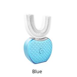 Escova de cuidados sônicos on-line-360 Graus de Carregamento USB Sem Fio Preguiçoso Automático de Silicone Sônico Escova De Dentes Elétrica Escova De Dentes de Limpeza Escova Oral Care Ferramenta