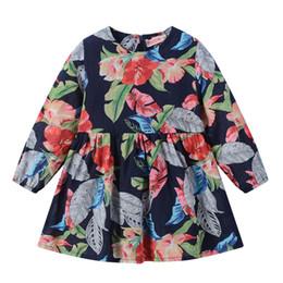 Le ragazze vestono le camicie per i bambini online-Kids Designer Brand Dress Ragazze Multi colore Dress Bambini A-line gonna manica lunga girocollo bambola camicia 61