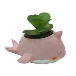 Cartoon Animal Planter Flowerpot Resina Elefante Simpatico Bonsai Cactus a forma di tavolo Decorazione da interni Cactus succulente Vaso di fiori da
