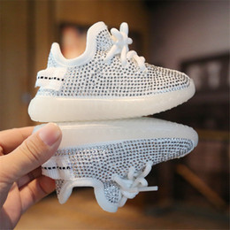 zapatos de cocos Rebajas 2020 Spring Autumn Baby Girl Boy Toddler Shoes Infant Rhinestone Sneakers Coconut Shoes Soft Comfortable Kid