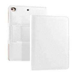 tipos de bateria recarregável Desconto Folding Stand Tablet Acessório Bateria Recarregável Digitação Teclado Estojo de Couro Falso Protetor Escritório Destacável Para Ipad Mini