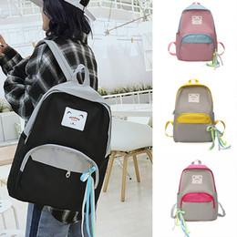 2019 borsa di disegno della borsa Donne Nice New semplice design di stile Oxford Corea moda spalla ragazze zaino Moda Student Bag borsa a mano sconti borsa di disegno della borsa