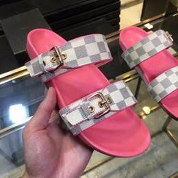Tela di gomma delle donne online-Morbido sandalo da donna in pelle sintetica DIA FLAT MULE con stampa sandalo da donna in pelle con stampa suola in gomma